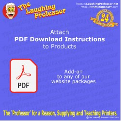 COMING SOON - pdf Instructions download with product